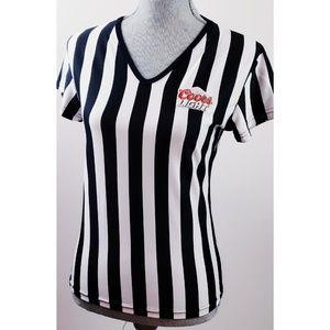 e8fd461060a New Coors Light Referee Vee Neck Short Sleeve Top
